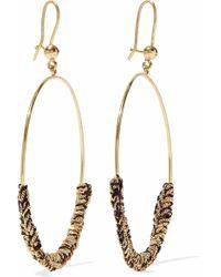 Carolina Bucci - 18-karat Gold And Cord Earrings - Lyst