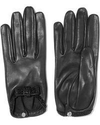 Causse Gantier - Grace Crystal-embellished Leather Gloves - Lyst