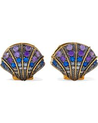 Noir Jewelry - Gold-tone Crystal Earrings - Lyst