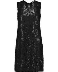 Diane von Furstenberg - Kaleb Appliquéd Lace And Sequined Stretch-crepe Dress - Lyst