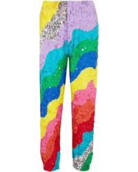 Mira Mikati - Sequined Silk Tapered Trousers - Lyst