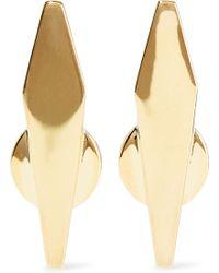 Noir Jewelry - Break The Mold 14-karat Gold-plated Earrings - Lyst