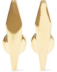Noir Jewelry - Woman Break The Mould 14-karat Gold-plated Earrings Gold - Lyst