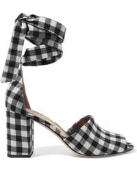 Sam Edelman - Odele Gingham Canvas Sandals - Lyst