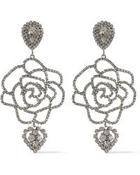 DANNIJO - Woman Silver-tone Crystal Necklace Silver - Lyst