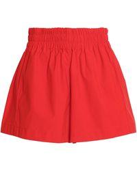 Maje - Gathered Cady Shorts - Lyst
