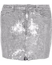 IRO - Sequined Jersey Mini Skirt - Lyst