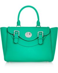 Hill & Friends - Happy Textured-leather Tote Bag  - Lyst