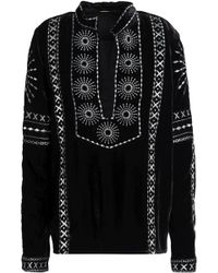 Dodo Bar Or - Metallic Embroidered Chenille Top Black - Lyst