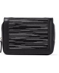 M Missoni - Crochet Knit-paneled Leather Shoulder Bag - Lyst