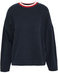 Chinti & Parker - Gathered Cotton-jersey Top Navy - Lyst