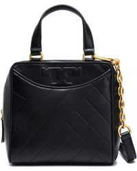 Tory Burch - Alexa Topstitched Leather Shoulder Bag - Lyst