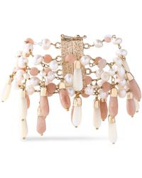 Rosantica - Gold-tone, Bead And Faux Pearl Bracelet - Lyst