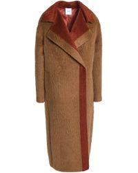 Agnona - Two-tone Alpaca And Wool-blend Coat - Lyst