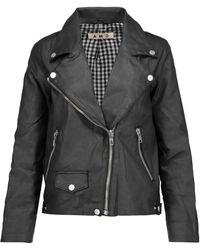 AMO - Rizzo Coated Stretch-cotton Biker Jacket - Lyst