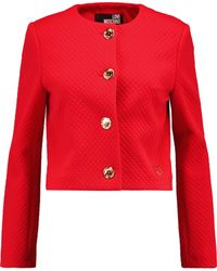 Love Moschino - Quilted Crepe Jacket - Lyst