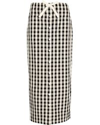 Solid & Striped - Gingham Cotton And Linen-blend Maxi Skirt - Lyst