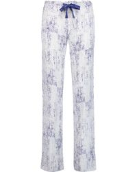 CALVIN KLEIN 205W39NYC - Printed Voile Pyjama Trousers - Lyst