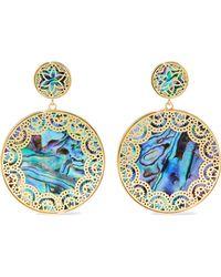 Noir Jewelry - Tangier 14-karat Gold-plated Iridescent Resin Earrings - Lyst