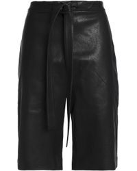 JW Anderson - Woman Leather Shorts Black - Lyst