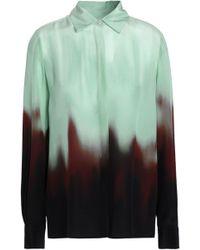 Rosetta Getty - Dégradé Silk Crepe De Chine Shirt - Lyst