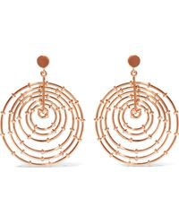 Arme De L'Amour - Rose Gold-plated Earrings - Lyst