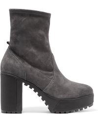 Atelje71 - Alva Stretch-suede Ankle Boots - Lyst