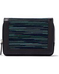 9cc2551ddce1 M Missoni - Woman Jacquard Knit-paneled Leather Shoulder Bag Black - Lyst
