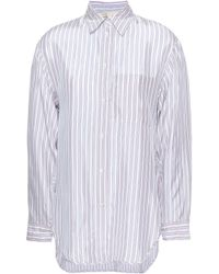 Maje Striped Woven Shirt Lilac - Purple