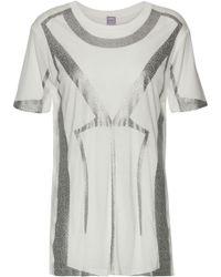 Hervé Léger - Metallic Printed Modal-jersey T-shirt - Lyst
