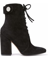 Gianvito Rossi - Suede Ankle Boots - Lyst