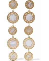Noir Jewelry - Gold-tone Faux Pearl Earrings - Lyst