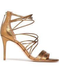 Halston - Metallic Leather Sandals - Lyst