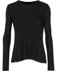 Enza Costa - Ribbed Jersey Top - Lyst