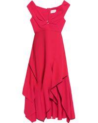 Peter Pilotto - Asymmetric Gathered Cady Dress - Lyst
