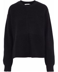 Helmut Lang - Ribbed And Bouclé-knit Wool, Yak And Cashmere-blend Sweater - Lyst