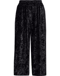 Rebecca Minkoff - Crushed-velvet Wide-leg Pants - Lyst