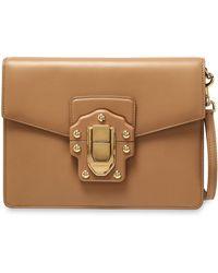d7b30c036552 Dolce   Gabbana Lucia Python-trimmed Two-tone Leather Shoulder Bag ...