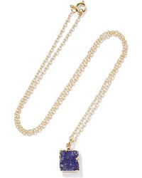 Dara Ettinger - Gold-tone Stone Necklace - Lyst
