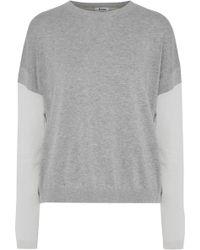 Acne Studios - Kainoa Color-block Mélange Cotton Sweater - Lyst