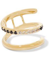 Elizabeth and James - Finn Gold-tone Crystal Ring - Lyst