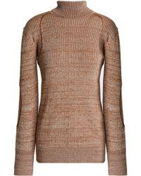 Nina Ricci - Marled Ribbed-knit Turtleneck Sweater - Lyst