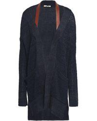 Roberto Cavalli Open-knit Silk Sweater Navy - Blue
