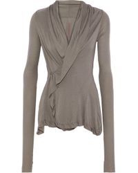 Rick Owens Lilies - Draped Jersey Wrap Top - Lyst