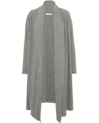 Kain - Draped Brushed Mélange Knitted Cardigan - Lyst