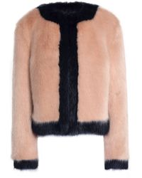 Shrimps - Two-tone Faux Fur Coat - Lyst