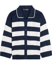 Dolce & Gabbana | Striped Silk-jersey Cardigan | Lyst