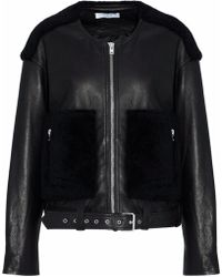 IRO - Faux Fur-paneled Leather Jacket - Lyst