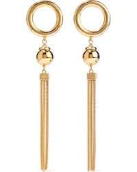 Ben-Amun - Woman Gold-tone Tassel Earrings Gold - Lyst