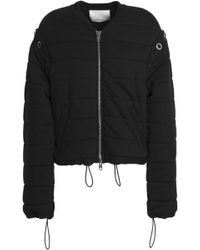 3.1 Phillip Lim - Convertible Quilted Cotton-jersey Bomber Jacket - Lyst